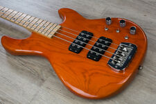 "G&L USA L-2000 Electric Bass Maple Fretboard 12"" Radius Clear Orange + Case"