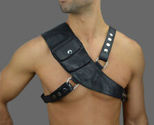 Aw-672 en Cuir Véritable Harness, Leather Harness/Harnais Cuir/GAY/Strings