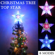 topper star chasing christmas tree top outdoor indoor led light 8 flashing modes