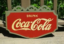Vintage 1936 Coca Cola Coke Advertising Metal Flange Sign