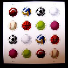 5203-10 HAVE A BALL! SPORTS BALLS FOREVER 16 STAMPS 2017 (SEE DESCRIPTION)