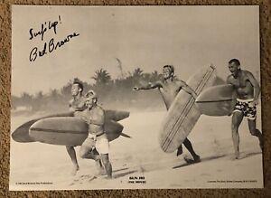 Vintage Bud Browne Gun Ho Autographed Movie Poster Surfing Surfer