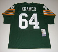 PACKERS Jerry Kramer signed jersey w/ #64 JSA COA AUTO Autographed Green Bay