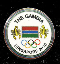 Singapore 2010 rare GAMBIA YOG Olympic NOC team pin