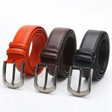 Men's Genuine Leather Belt Casual Formal Belts Pin Buckle 110-130cm Black Brown