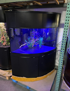NEW! 150 gallon corner bow fish tank aquarium in black, Large aquarium for sale