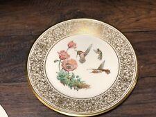 30305 Lenox Porcelain Rufous Hummingbird Boehm Birds Collector Plate 1974