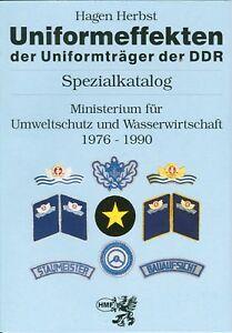 Spezialkatalog Uniformeffekten Umweltschutz Wasserwirtschaft der DDR