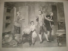 Un pittore del primo lavoro da Marcus STONE 1862 Old print