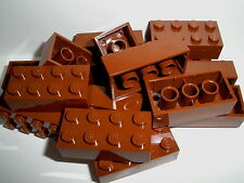 ++  LEGO  RITTER  15  braune  Bausteine  2x4  Noppen   NEU  ++