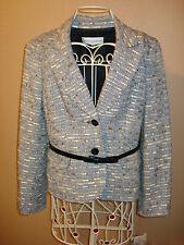 Jones New York 2 pc Blazer Jacket Skirt Career Tweed Suit Size 8P/10P NWT