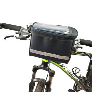 Bicycle Front Bag Basket, Waterproof Reflective cycling Handlebar Bag