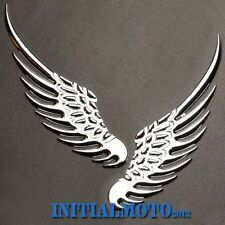 Car Trunk Chrome Solid Angel Wings Metal Logo Emblem Marker Decal Badge Sticker