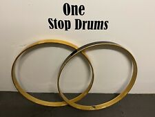 "Pearl Bass Drum 22"" Wooden Hoops Rims Hardware Tension"