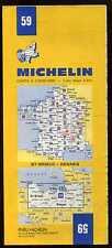 carte MICHELIN   no  59  ST - BRIEUC   RENNES 1977  ( 13 em édition )