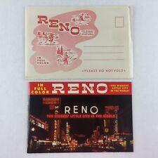 VINTAGE 1953 RENO In Full Color Brochure Book ~ Illustrated Pages