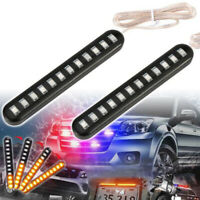 Motorcycle 12LED Flexible Strip Light Turn Signal Indicator Amber Waterproof NT