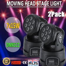 RGBW 7x15w LED Moving Head Stage Par Light 4in1 Sound Control 9/14ch DMX Club DJ