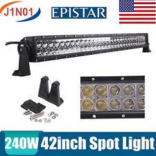 """42INCH 240W LED WORK LIGHT BAR SPOT 4WD DRIVING OFFROAD SUV TRACTOR BOAT 40/44"""""""