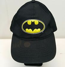 Batman Hat Cap DC Comics TM Black Yellow Logo Snapback Superhero