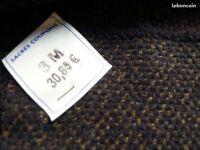 Vends beau lainage (laine mélangée) Poids manteau ou veste Noir chiné beige - 3m
