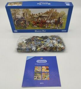 """Gibsons Jigsaw Puzzle 636 Pieces """"Making Hay"""""""
