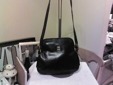 Vintage Lanvin Black Leather Dome Shape Shoulder Bag Purse Handbag Made in Italy