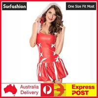 Sexy Christmas Party Costume Women Ladies Santa Princess Hooded Outfit #7113