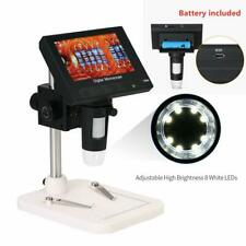 """1000X 5MP Microscope 4.3"""" LCD Display 720P 8LED Digital Magnifier with Holder US"""
