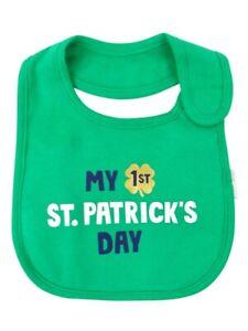 Carter's Baby Boys & Girls 1st St. Patrick's Day Cotton Bib (OS, Green)