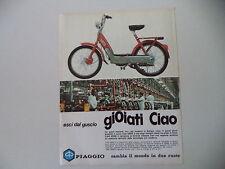 advertising Pubblicità 1975 PIAGGIO CIAO 50