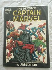 THE DEATH OF CAPTAIN MARVEL  Jim Starlin (1982) Marvel Comics graphic novel