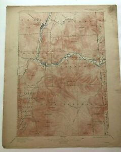 1915 Geological Survey Topographic Map NH Gorham Berlin & Shelburne Free Ship