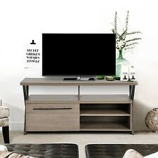 Retro Design TV Stand Cabinet Widescreen Unit Grey OAK Finish Suitable for 50''