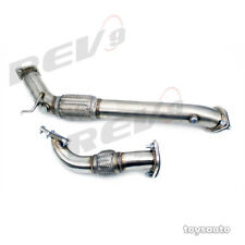 "Rev9 2pc 3"" Downpipe Down Pipe *5 bolt Turbo* for RSX 02-06 Civic 06-11 K20"