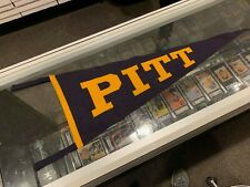 1940'S PITT UNIVERSITY OF PITTSBURGH PENNANT SEWN ON LETTERS 50% WOOL 50% COTTO