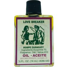 Love Breaker Rompe Zaraguey Spiritual Oil Indio Products 1/2 oz Wicca Santeria