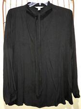 Falls Creek Black Dressy Blouse Top Women's 3X