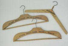 3 cintres bois Eraly Claes Tremelo Sint-Martinus Aalst Vintage coat hangers wood