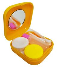 Orange Mini Colour Contact Lens Travel Kit Case - Pocket Size - Case - Tweezer