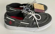 NEW! ORIGINAL PENGUIN SIDER GRAY BOYS BOAT SHOES SNEAKERS US 2  SALE