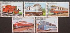 """Burkina Faso: Michel-Nr. 1044-1048 """"Eisenbahnen/ Lokomotiven"""" aus 1985, gest."""