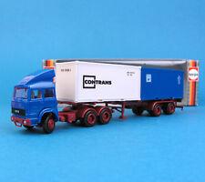 Herpa h0 816220 Iveco contenedor-remolcarse con directivo 2x20' contrans OVP ho 1:87