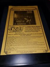 Ozzy Osbourne Diary Of A Madman Rare Original Radio Promo Poster Ad Framed!
