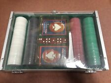 Trademark Poker 200 Holdem Poker Chip Set With Clear Cover Aluminum Case