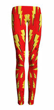 Women Yellow lightning printed Leggings Galaxy leggings  legging 347
