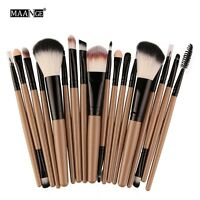 MAANGE 18pcs Eye Shadow Cosmetic Makeup Brushes Set Lip Eyebrow Brush Kits Tools