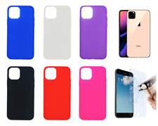 Case Cover Gel TPU Silicone For iPhone 11 Pro / XI Pro + Optional Protector