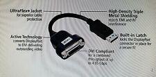 ACCELL B087B-0058-2 UltraAV DisplayPort DP DVI-D DVID Active Single-Link Adapter