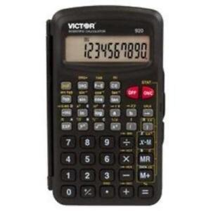 Victor Technology 920 920 Compact Scientific Calculator With Hinged
